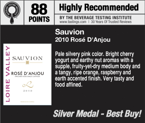 Sauvion 2010 Rose Danjou 2011 WVWC Shelf Talker