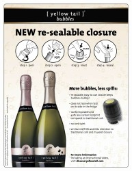 yellow tail bubbles sellsheet