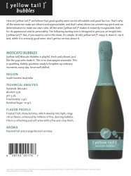 [ yellow tail ]® Bubbles 2014 Moscato