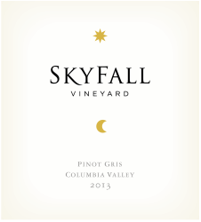 Skyfall Pinot Gris Label