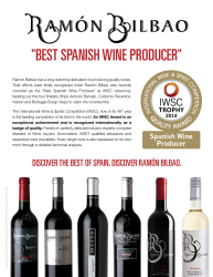 Ramón Bilbao Spanish Wine IWSC Award 2015 Sell Sheet