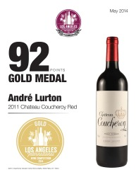 André Lurton   2011 Chateau Coucheroy Red   92 Points   Los Angeles International Wine Competition   Review