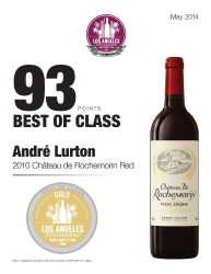 André Lurton   2010 Chateau de Rochemorin Red   93 Points   Los Angeles International Wine Competition   Review
