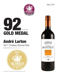 André Lurton 2011 ChateauBonnet Red 92 Points Los Angeles International Wine Competition Review