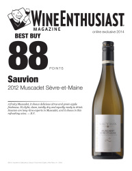 Sauvion   2012 Muscadet Sevre-et-Maine   88 Points   Wine Enthusist   Review