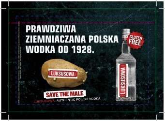 Luksusowa Vodka   Polish Shelf Talker