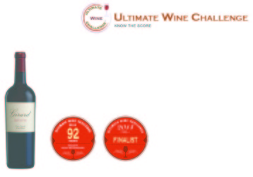 Girard  2011 Artistry   92 points   Ultimate Wine Challenge   Shelf Talker