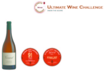 Girard  2012 Chardonnay   91 points   Ultimate Wine Challenge   shelf Talker