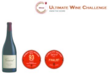Girard  2012 Petit Sirah   93 points   Ultimate Wine Challenge   Shelf Talker