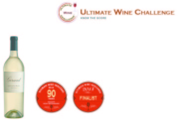 Girard  2013 Sauvignon Blanc   90 points   Ultimate Wine Challenge   Shelf Talker