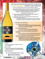 Hob Nob   Chardonnay   Sell Sheet