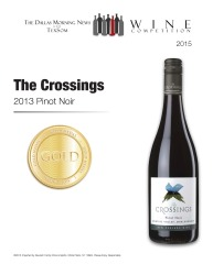 The Crossings  2013 Pinot Noir   Gold Medal   TexSom Wine Competition   Review