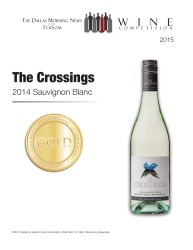 The Crossings  2014 Sauvignon Blanc   Gold Medal   TexSom Wine Competition   Review