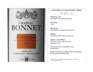 Chateau Bonnet   Bordeaux Red 2011   Tasting Card