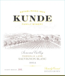 Kunde Family Estate   Sauvignon Blanc   Sonoma Valley   Front Label