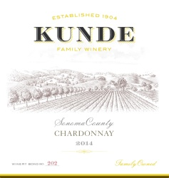 Kunde Family Estate   Chardonnay   Sonoma County   Front Label