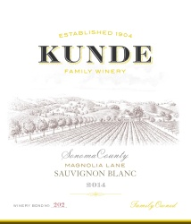 Kunde Family Estate   Sauvignon Blanc   Sonoma County   Front Label