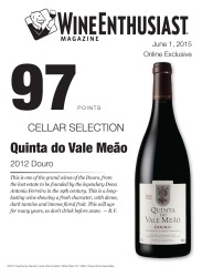 Quinta do Vale Meao   2012 Douro   97 Points   Wine Ethusiast - June 1 2015   Review