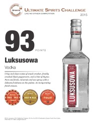 Luksusowa   Vodka   93 Points   2015 Great Value   2015 Tried and True Award   Ultimate Spirits Challenge   Review