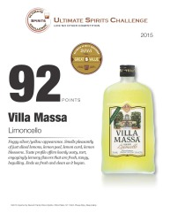 Villa Massa   Limoncello   92 Points   2015 Great Value   Ultimate Spirits Challenge   Review