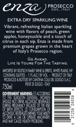Enza   Prosecco   Back Label