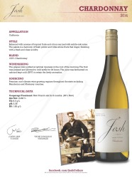 Josh Cellars   Chardonnay 2014   Technical Sheet