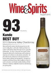 Kunde Family Estate   2013 Sonoma Valley Chardonnay   93 Points   Best Buy   Wine & Spirits   August 2015   Review