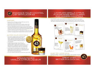 Licor 43   Enhance Your Cocktail   Sell Sheet