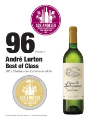 André Lurton 2012 Château de Rochemorin White 2015 Los Angeles International Wine Competition 96 Points Best In Class Review