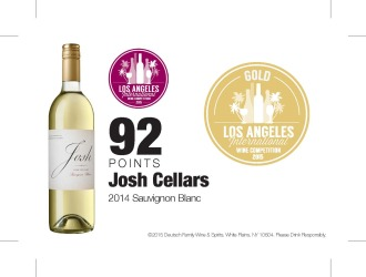 Josh Cellars   2014 Sauvignon Blanc   2015 Los Angeles International Wine Competition   92 Points   Shelf Talker