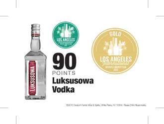 Luksusowa   2015 Los Angeles International Spirits Competition   90 Points   Shelf Talker