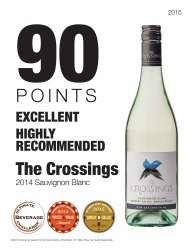 The Crossings   2014 Sauvignon Blanc   90 Points   Great Value Tried and True  Excellent and Highly Recommended   Ultimate Beverage Competition   Review