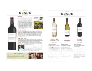 Kunde Family   Sonoma County   Sell Sheet