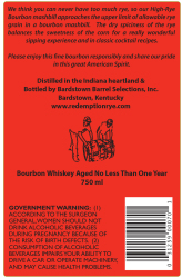 Redemption   High-Rye Bourbon   Back Label