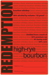 Redemption   High-Rye Bourbon   Front Label