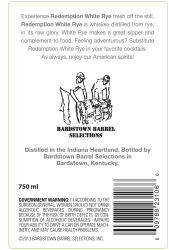 Redemption   White Rye   Back Label