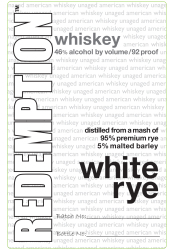 Redemption   White Rye   Front Label