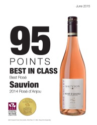 Sauvion    2014 Rose d'Anjou   2015 San Francisco International Wine Competition   95 Points Best in Class   Review