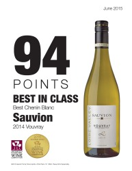 Sauvion    2014 Vouvray   2015 San Francisco International Wine Competition   94 Points Best in Class   Review