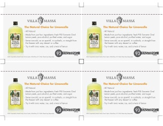 Villa Massa   Limoncello   Shelf Talker