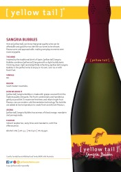 [ yellow tail ]® Sangria Bubbles   Technical Sheet