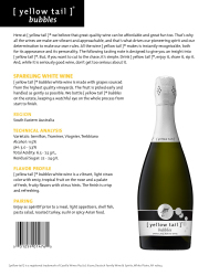 [ yellow tail ]® bubbles   White   Technical Sheet