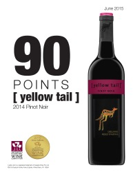 [ yellow tail ]®   2014 Pinot Noir   2015 San Francisco International Wine Competition   90 Points Gold Medal   Review
