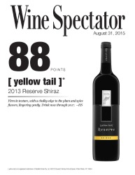 [ yellow tail ]® Reserve   2013 Reserve Shiraz   87 Points   Wine Enthusiast   August 31 2015   Review