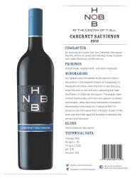 HobNob   2012 Cabernet Sauvignon   Technical Sheet