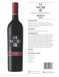 HobNob   2012 Merlot   Technical Sheet