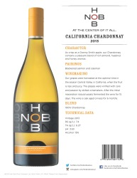 HobNob   2013 California Chardonnay   Technical Sheet