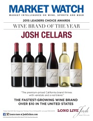 Josh Cellars   2015 Leaders Choice Award   Wine Brand of the Year   Market Watch   Sell Sheet