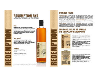 Redemption   Rye   Technical Sheet