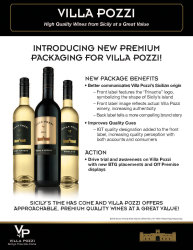 Villa Pozzi   New Packaging   Sell Sheet